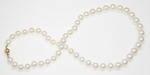Collier de Perles de Culture Eau Douce Blanc 8.5mm AA+