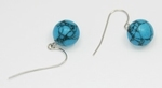 Boucles d`Oreilles Turquoise Dormeuses 10-11mm Or 585/1000