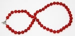 Collier Corail Rouge Perles Rondes 8mm