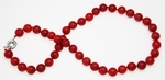 Collier Corail Rouge Perles Rondes 9-10mm