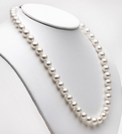 Collier Perles de Culture Akoya 7.5mm AAA L.45cm Or 14k