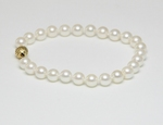 Bracelet Perles de Culture Akoya AAA 7.5mm Long. 18cm Or 14k