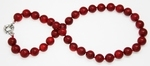 Collier Corail Rouge Perles Rondes 11mm